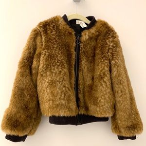 H&M faux fur jacket for kids — so chic! 4-6yrs